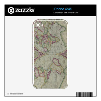 World Map 12 iPhone 4S Decals