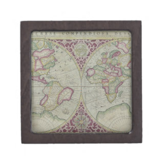 World Map 12 Jewelry Box