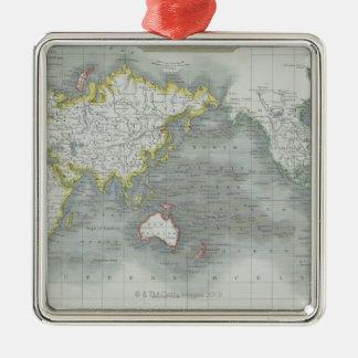 World Map 13 Metal Ornament
