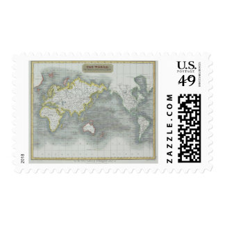 World Map 13 Postage Stamps