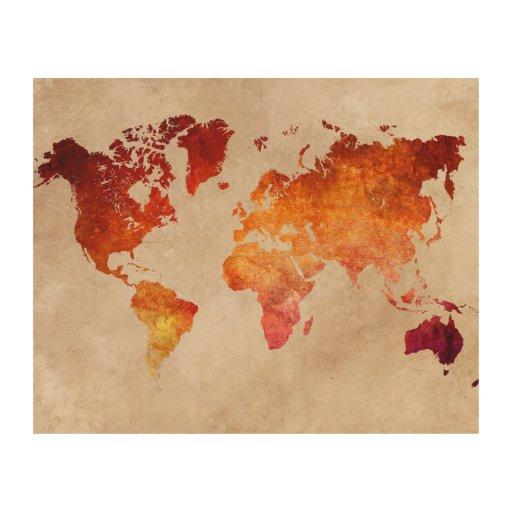 World Map Wall Decor Wood : World map wood wall decor zazzle
