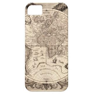 world map 1600 latin original black&white iPhone SE/5/5s case