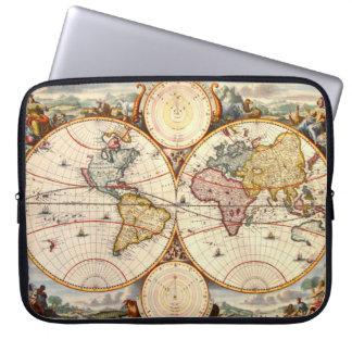 World Map 1680 Computer Sleeve