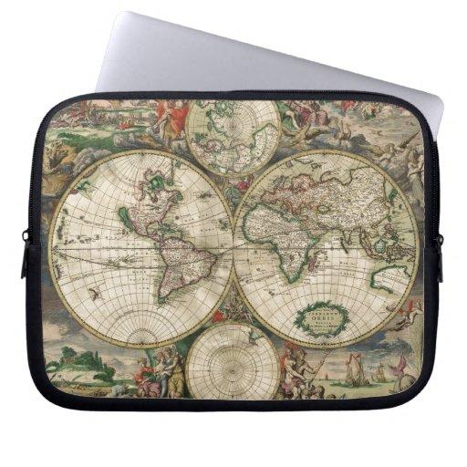 World Map 1689 print Computer Sleeves