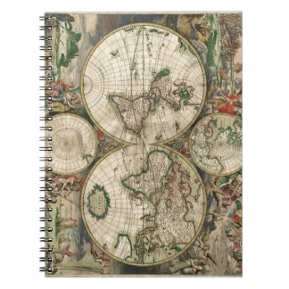 World Map 1689 print Journals