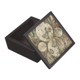 World Map 1689 print Premium Jewelry Boxes