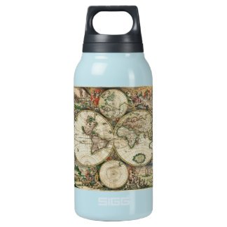World Map 1689 print 10 Oz Insulated SIGG Thermos Water Bottle