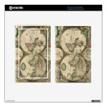 World Map 1689 print Skin For Kindle Fire