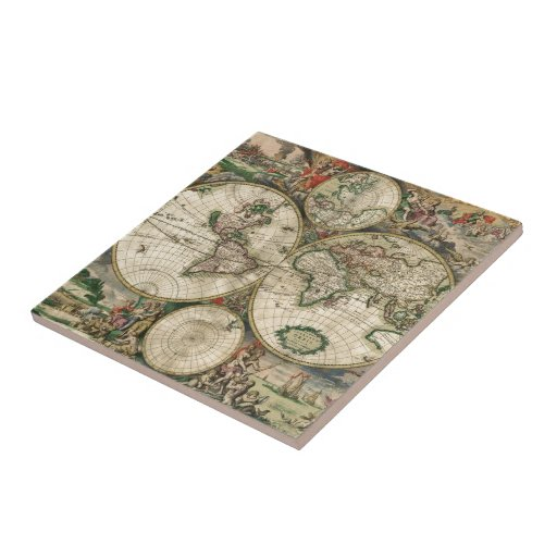 World Map 1689 print Tiles