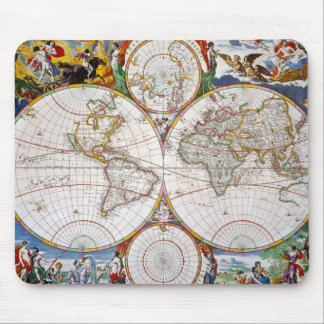 WORLD MAP, 17th CENTURY Mouse Pad