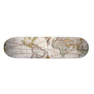 WORLD MAP, 17th CENTURY Skateboard