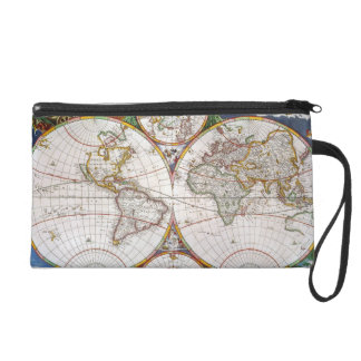 WORLD MAP, 17th CENTURY Wristlet