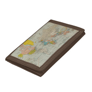 World Map 1910 Trifold Wallet
