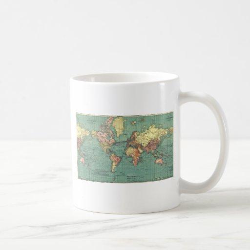 World map 1919 basic white mug
