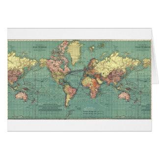 World map 1919 card