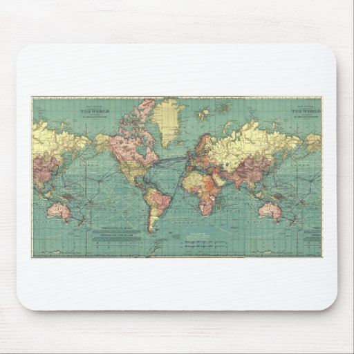 World map 1919 mouse pad