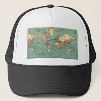 World map 1919 trucker hat