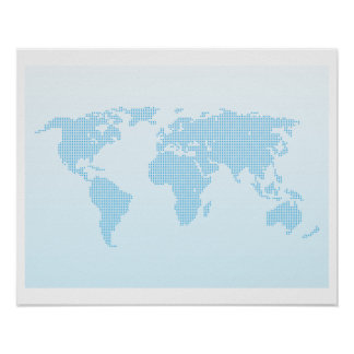 World Map 20 x 16 Inch Poster