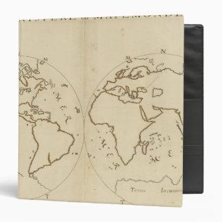 World Map 2 Vinyl Binders