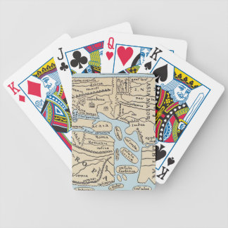 WORLD MAP 2ND CENTURY BICYCLE PLAYING CARDS