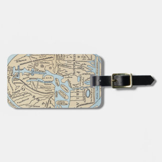 WORLD MAP 2ND CENTURY LUGGAGE TAG