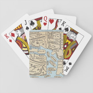 WORLD MAP 2ND CENTURY PLAYING CARDS