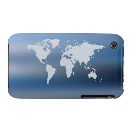 World Map 4 iPhone 3 Case
