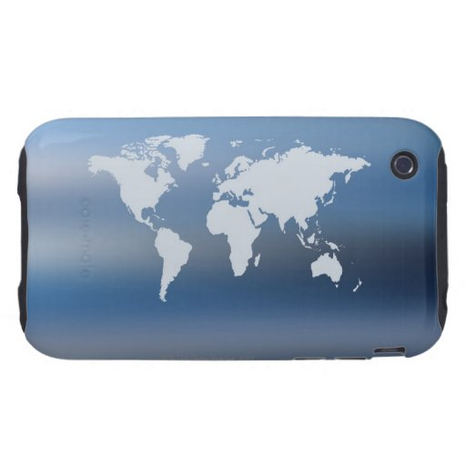 World Map 4 iPhone 3 Tough Covers