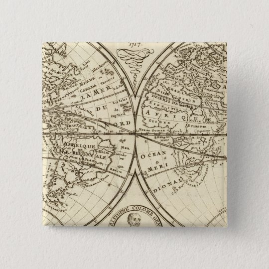 World Map 4 Pinback Button
