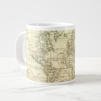 World Map 5 Giant Coffee Mug