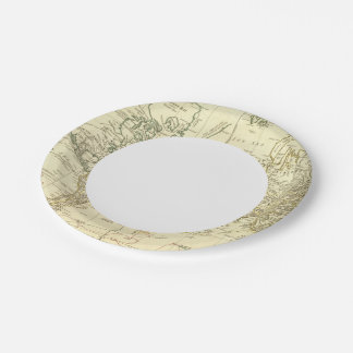 World Map 5 Paper Plate