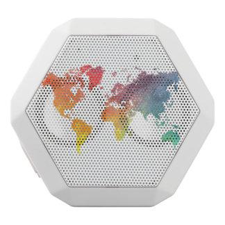 world map 5 white bluetooth speaker