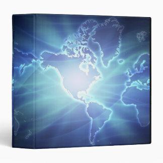 World Map 6 3 Ring Binder