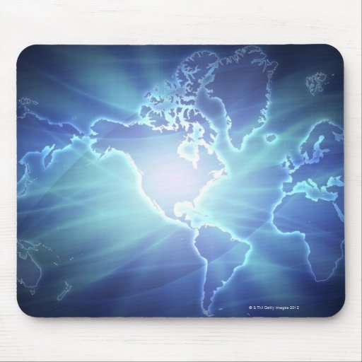 World Map 6 Mouse Pad
