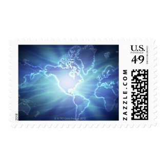 World Map 6 Stamps