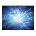 World Map 6 Postcard