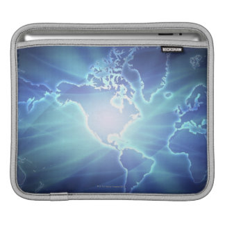 World Map 6 Sleeve For iPads
