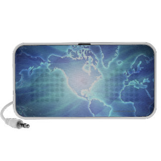 World Map 6 Travelling Speakers