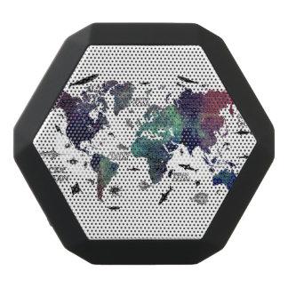 world map 7 black bluetooth speaker