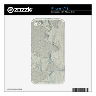 World Map 7 Decal For iPhone 4