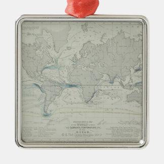 World Map 7 Metal Ornament