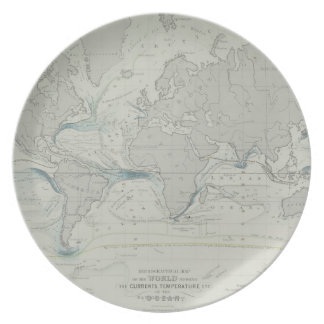 World Map 7 Party Plate