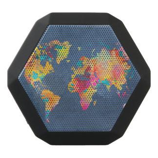 world map 8 black bluetooth speaker