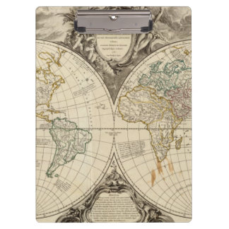 World Map 8 Clipboards
