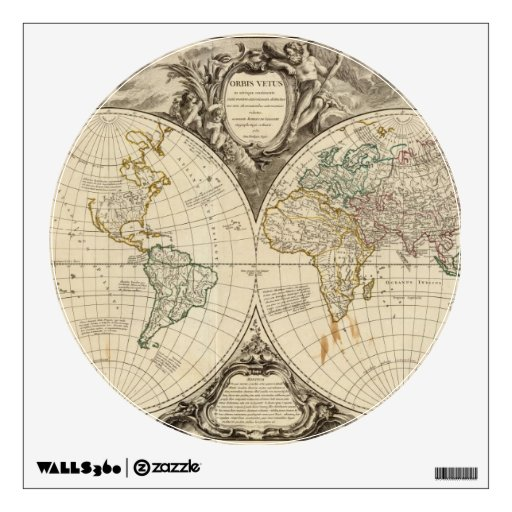 World Map 8 Room Decal