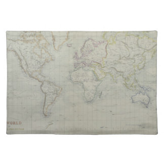 World Map 9 Placemats