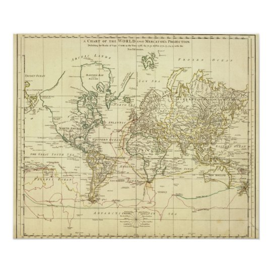 World Map 9 Poster
