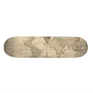 World Map 9 Skateboard Deck