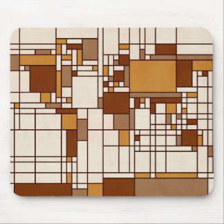 World Map Abstract Mondrian Style Mouse Pad