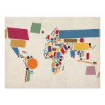 World Map Abstract Posters